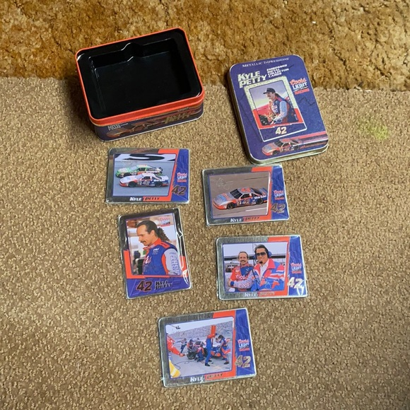 NASCAR embossed metal collector cards